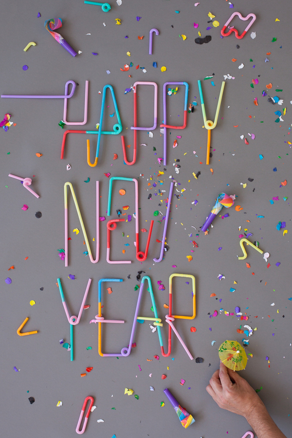 """Happy New Year via Typography Served"""